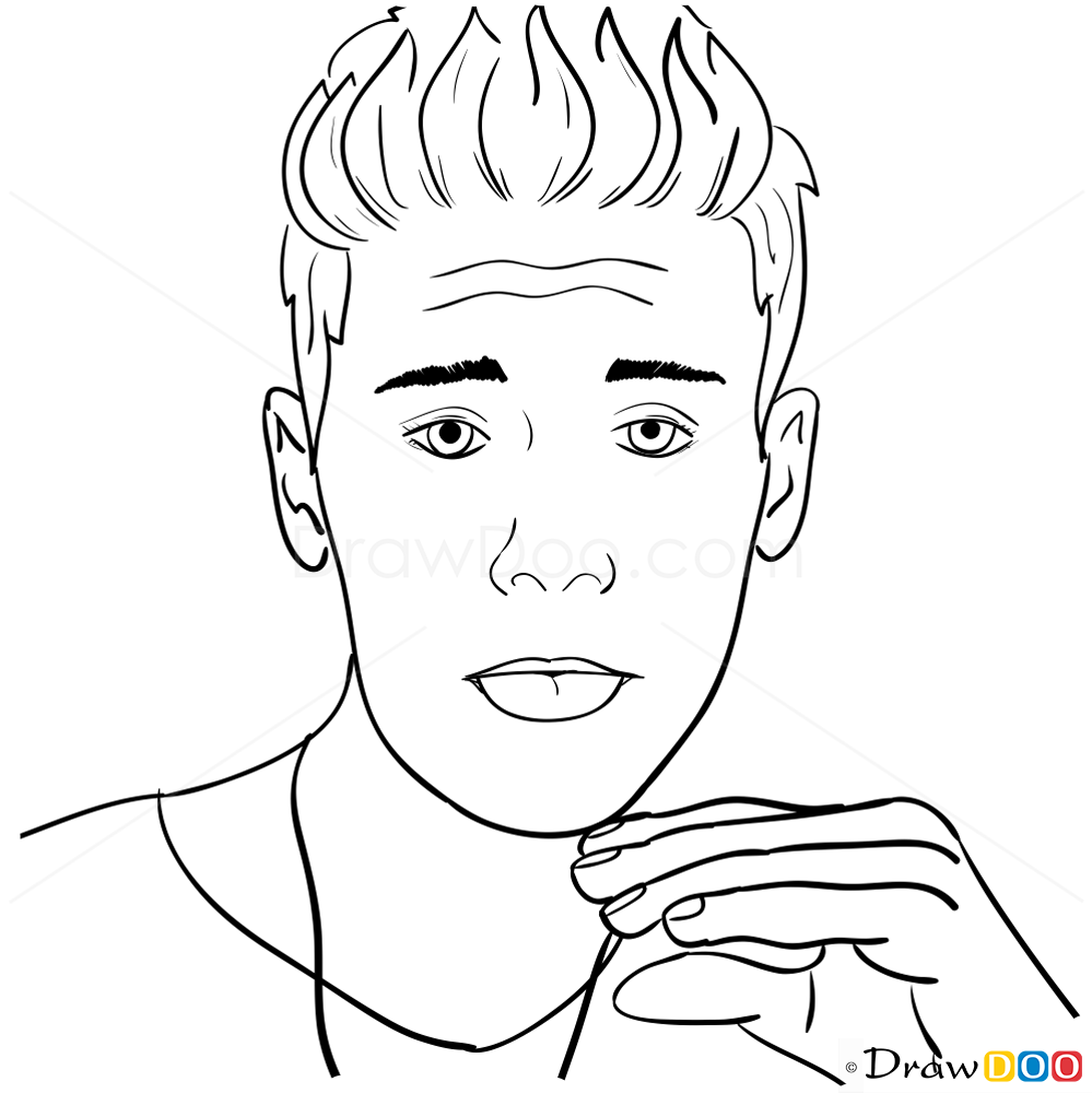 Justin Bieber Drawing Anime