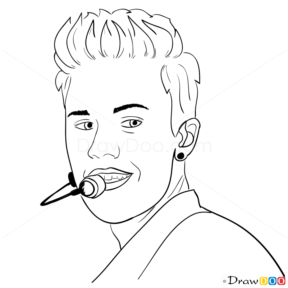 justin bieber how to draw