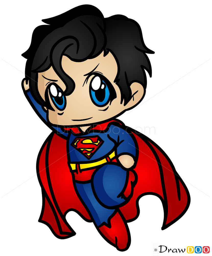 cute superman flying drawing - photo #9