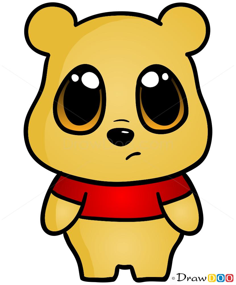 How to draw a cute cartoon teddy bear - photo#28