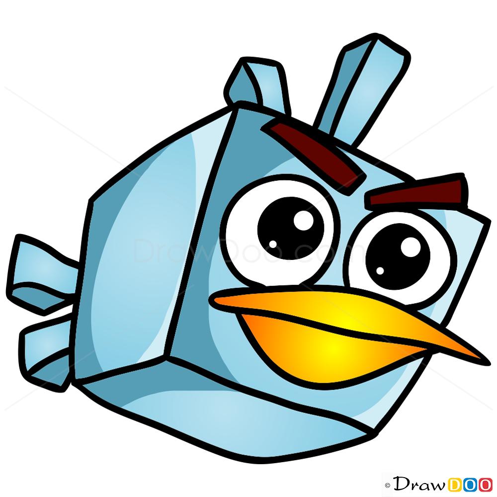 how to draw ice bird chibi