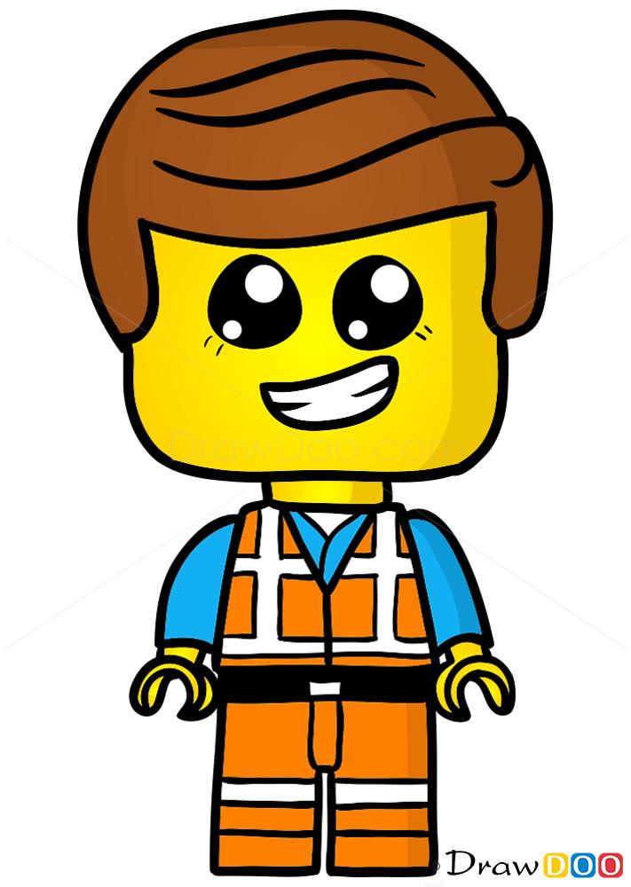 How To Draw Lego Emmet Chibi