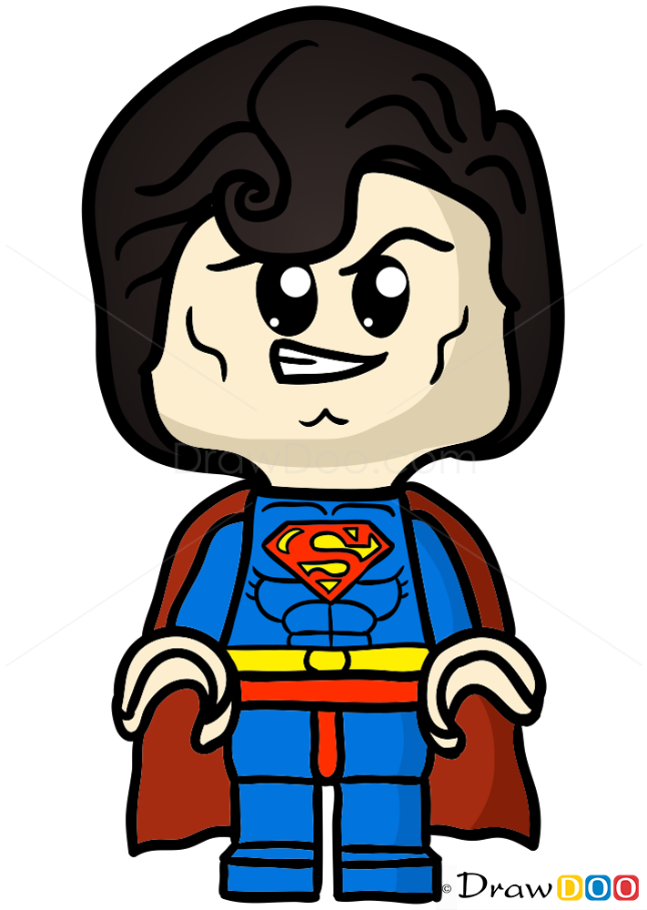 How To Draw Lego Superman Chibi