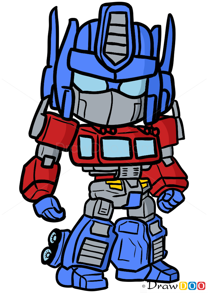 How To Draw Optimus Prime Chibi