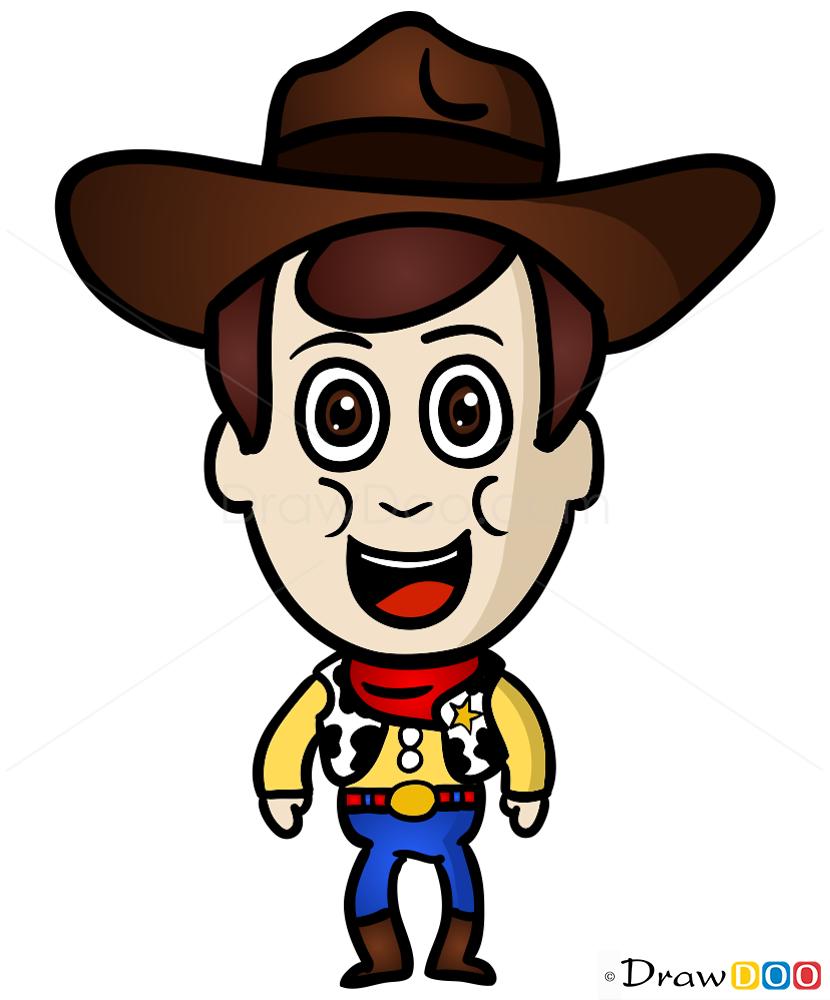 How To Draw Sheriff Woody Chibi