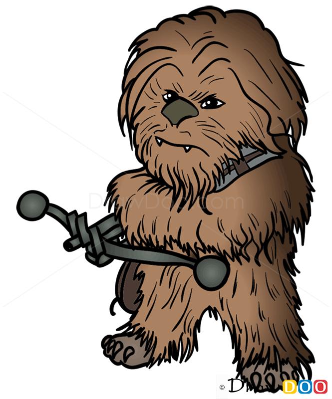 How To Draw Chewie Chibi Star Wars