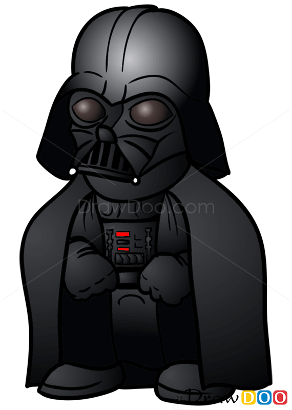 How To Draw Darth Vader Chibi Star Wars