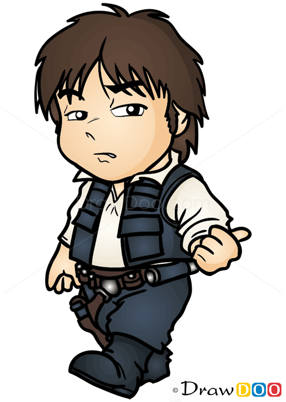 How To Draw Han Solo Chibi Star Wars