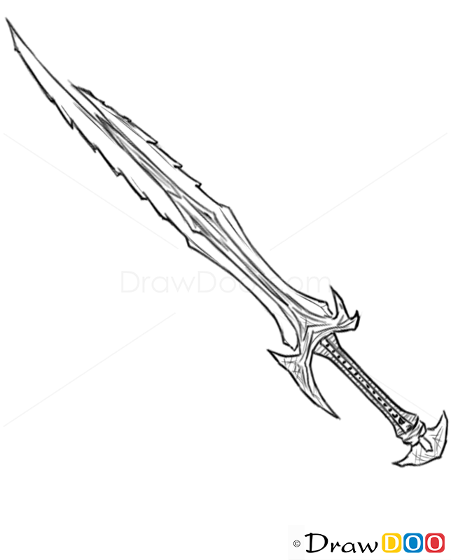 How To Draw Combat Dagger Cold Arms How To Draw