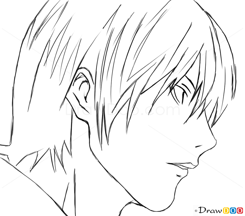 How To Draw Easy Yagami Kira Death Note