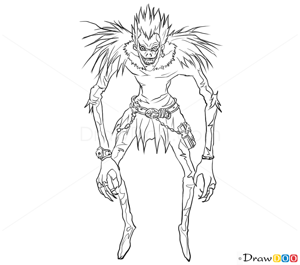 How To Draw Ryuk Death Note How To Draw Drawing Ideas