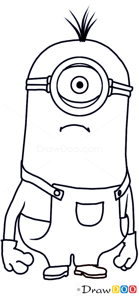 How to Draw Stewart Minion, Despicable Me - How to Draw ...Despicable Me Drawing