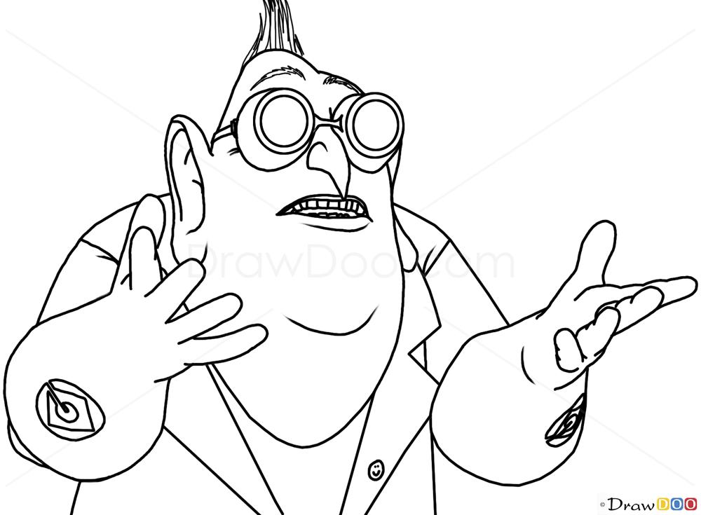 Despicable Me Dr Nefario Drawing How to Draw Dr  Nefario