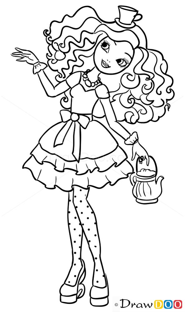 How To Draw Madeline Hatter Ever After Higt