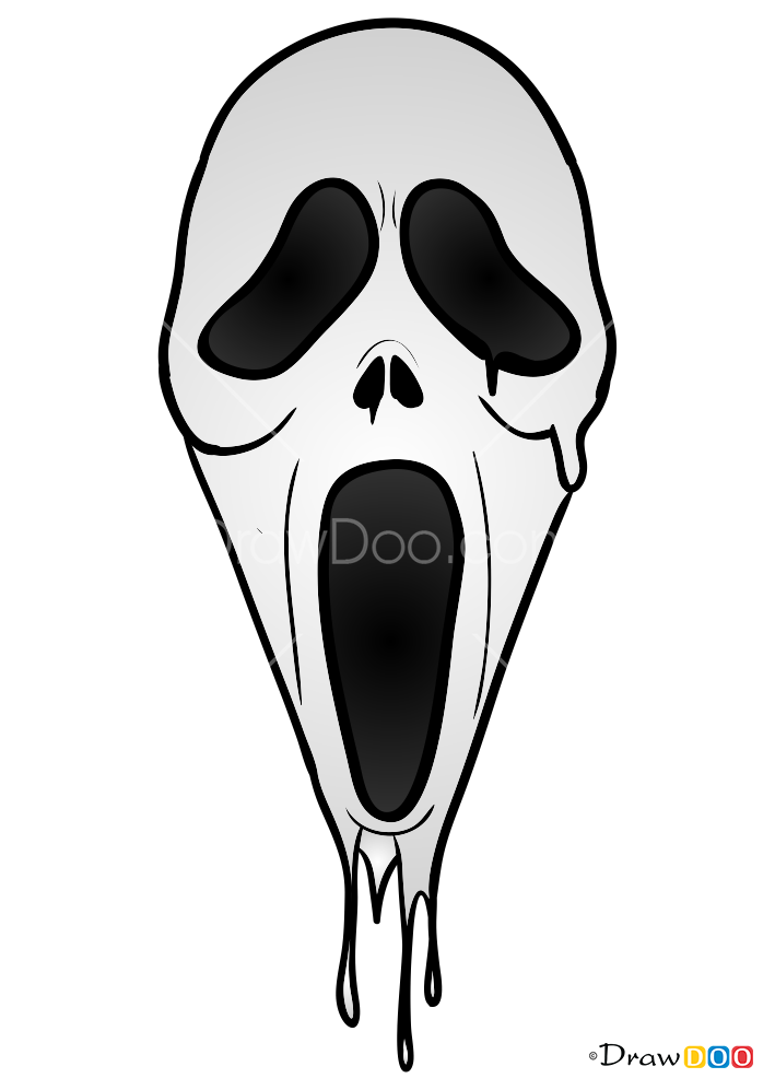 How To Draw Scream Mask Face Masks