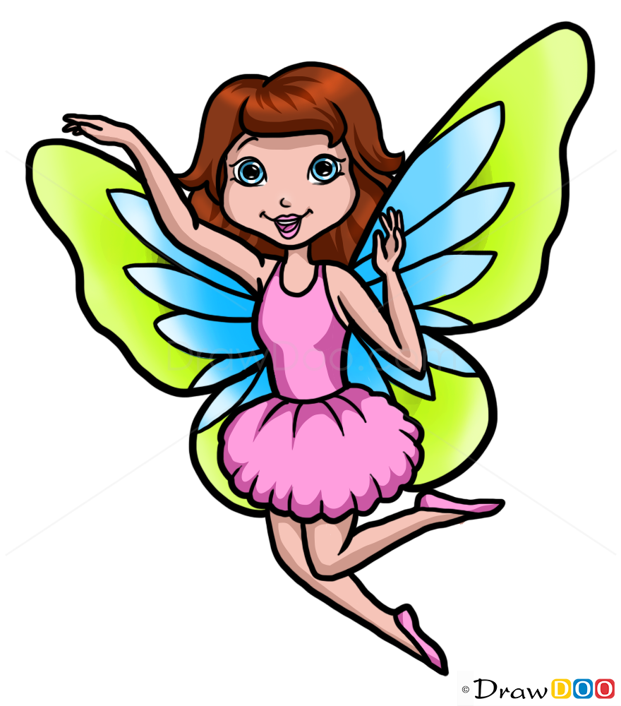 How to Draw Beautiful Fairy, Fairies - How to Draw ...