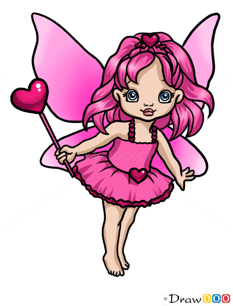 How to draw sweet fairy fairies how to draw drawing for How to draw a cartoon fairy