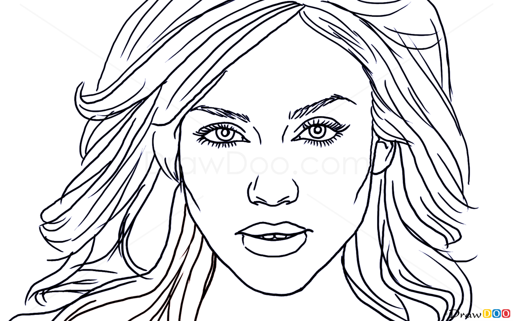 To draw jessica alba famous actors how to draw drawing ideas draw