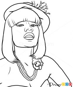 How to Draw Nicki Minaj, Famous Singers