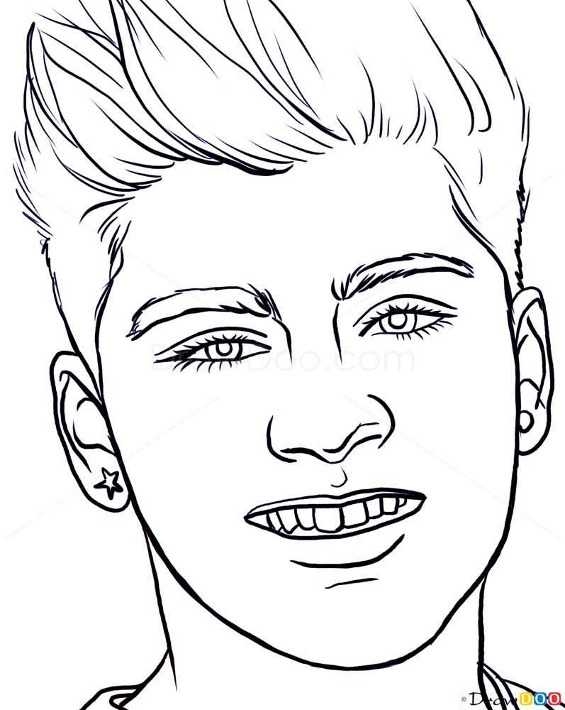 How To Draw Zayn Malik Famous Singers How To Draw
