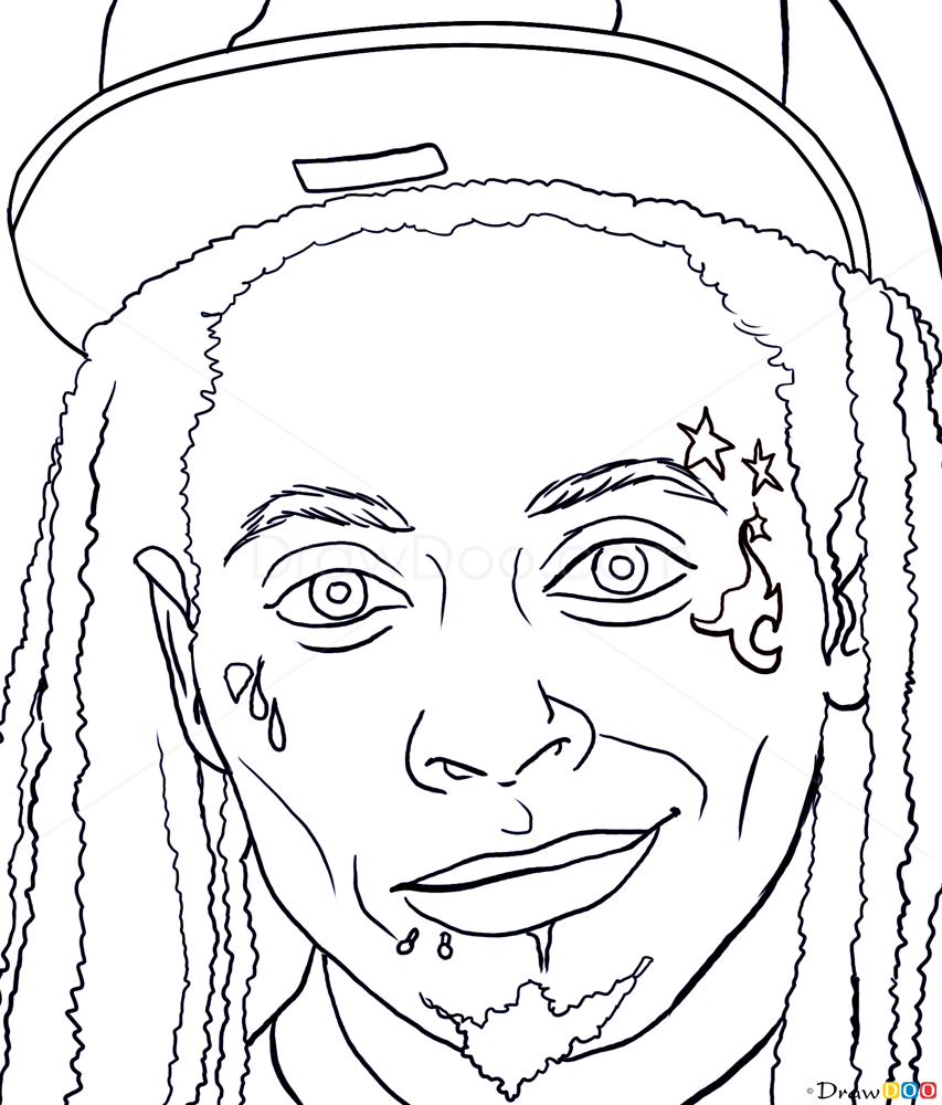 How To Draw Lil Wayne Famous Singers Draw Drawing Ideas Something