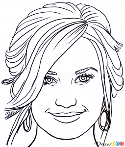 How To Draw Demi Lovato Famous Singers