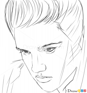 how to draw elvis presley famous singers