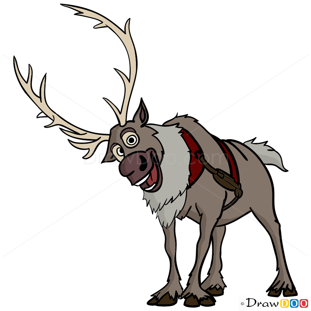 how to draw sven frozen