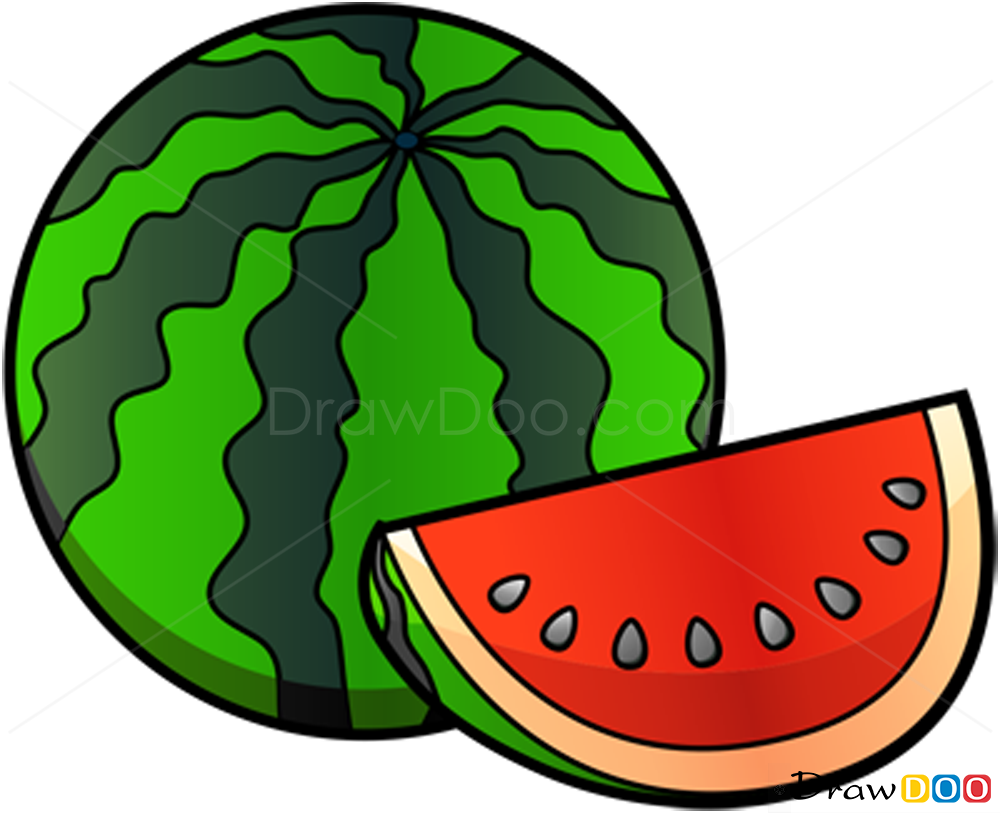 How To Draw Watermelon Fruits