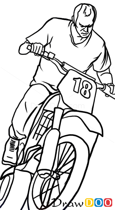 How To Draw Trevor On Motorcycle Gta How To Draw
