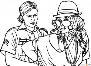 How to Draw Vasquez Arresting