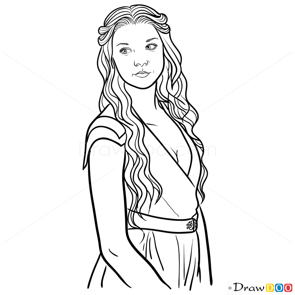 how to draw game of thrones characters