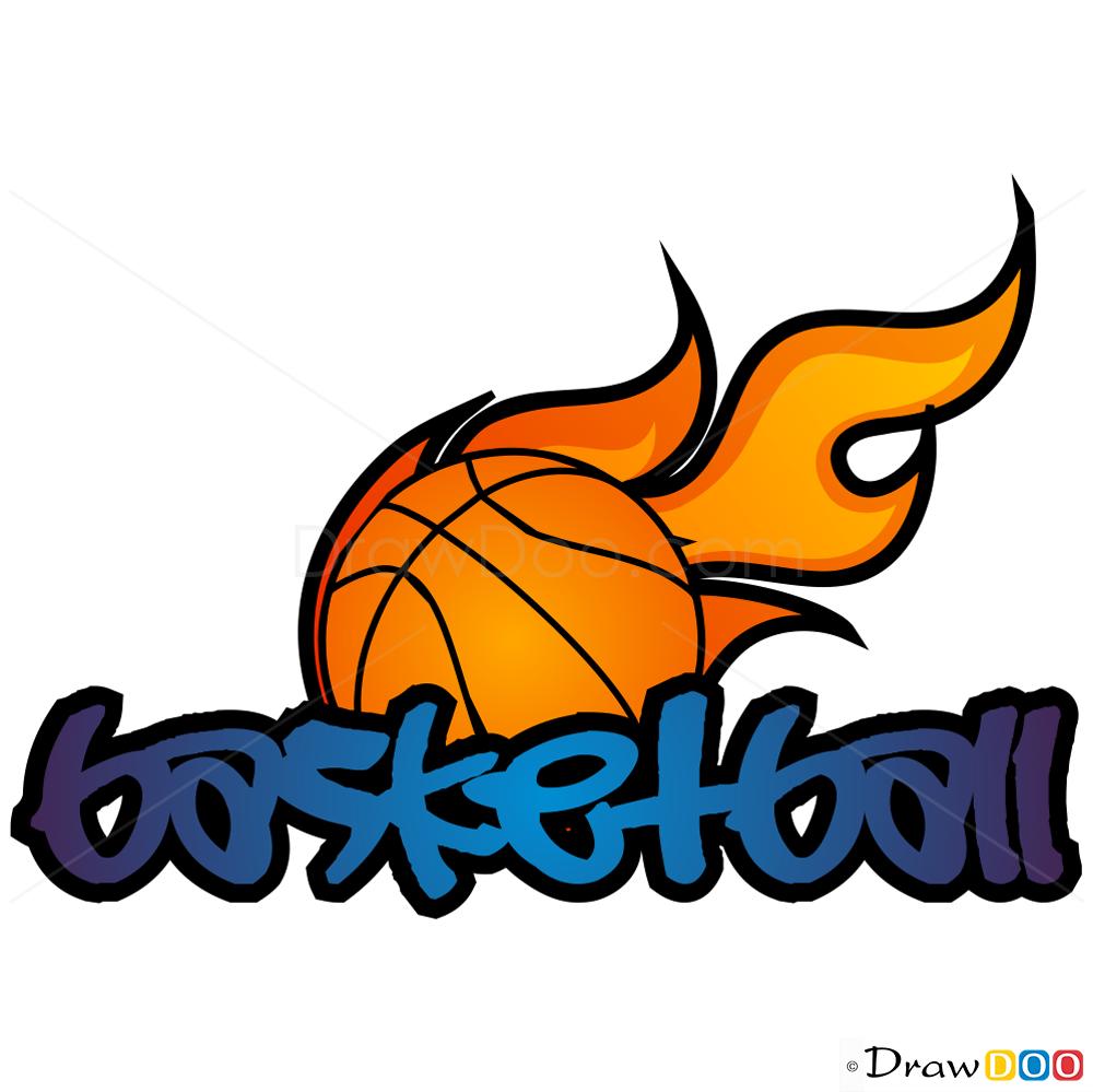 how to draw basketball  graffiti
