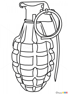 How To Draw Grenade Guns And Pistols