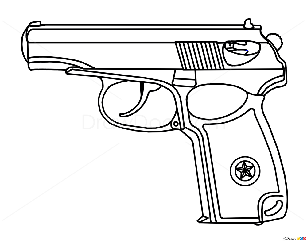 How To Draw Makarov Pistol Guns And Pistols How To Draw