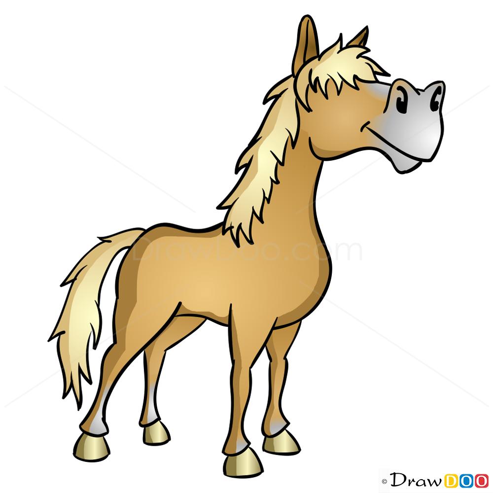 how to draw palomino horse hay day