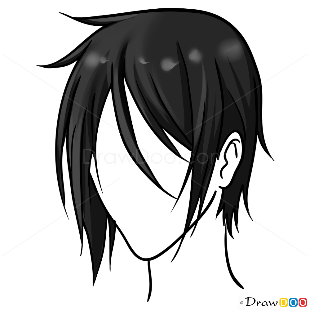 Anime Hair Drawing Easy Lesson Step By Step Drawing