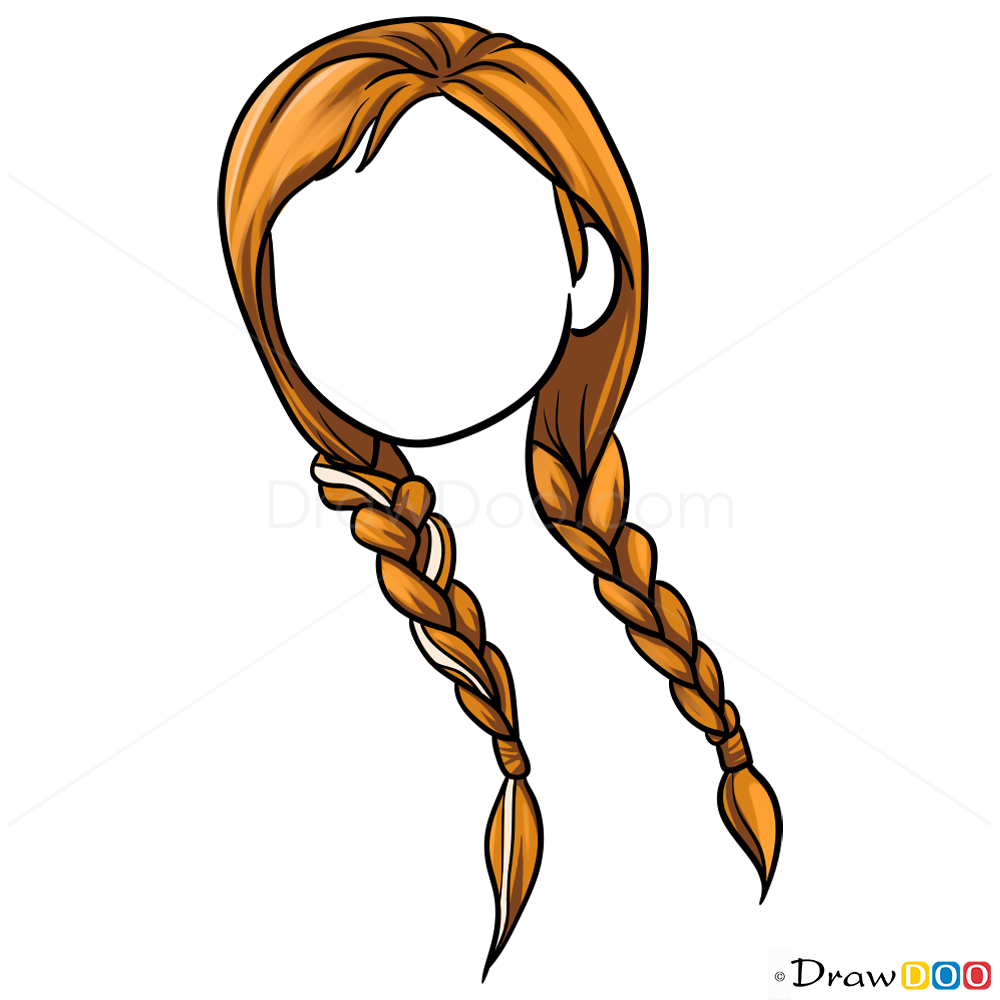 how to draw hair for beginners lesson