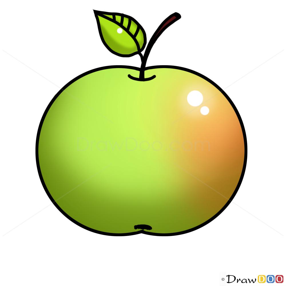 Картинка нарисованная яблочка