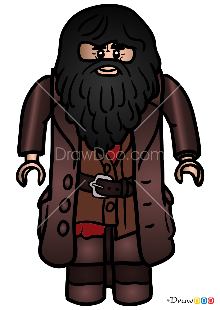 How To Draw Hagrid Lego Harry Potter