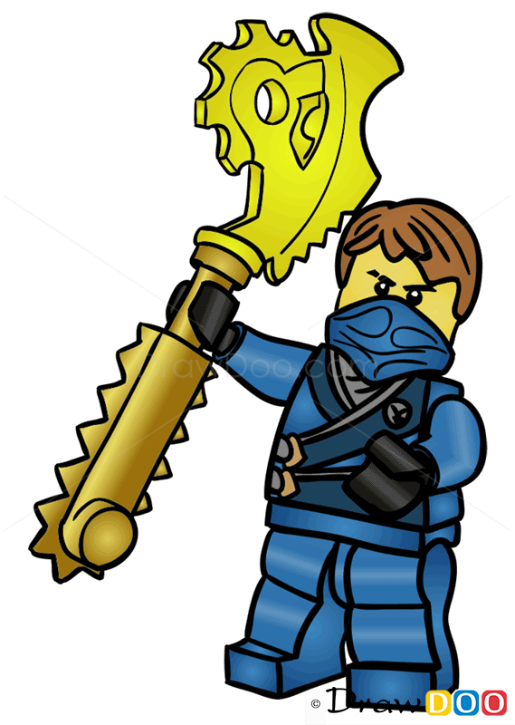 How To Draw Jay Lego Ninjago