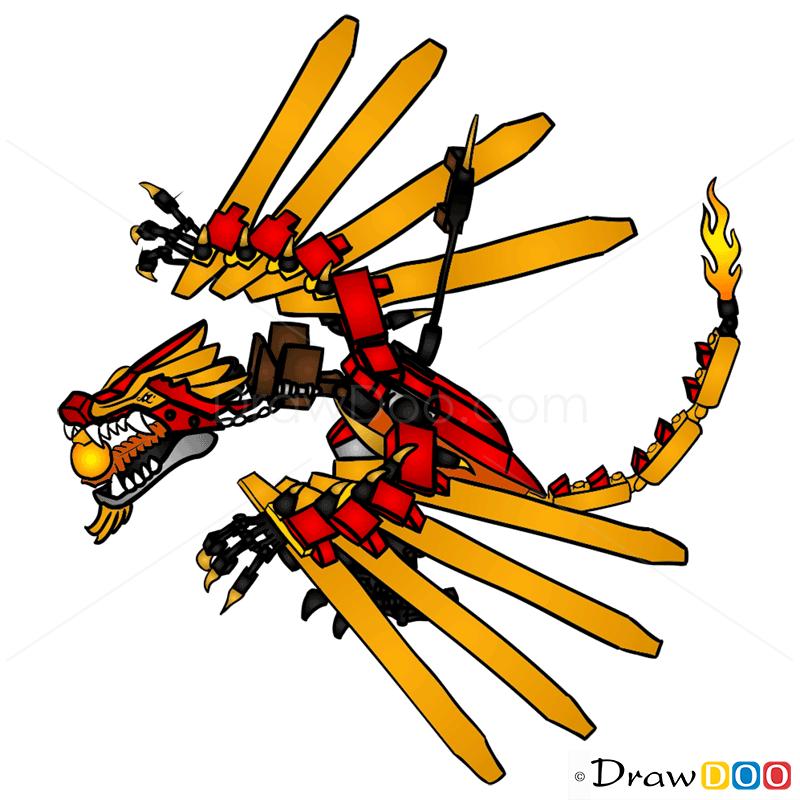 How To Draw Dragon Lego Ninjago
