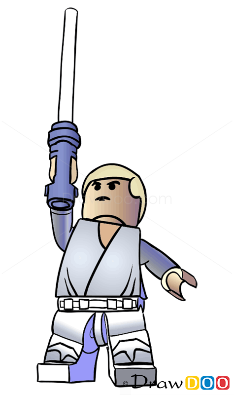 How To Draw Luke Skywalker Lego Starwars