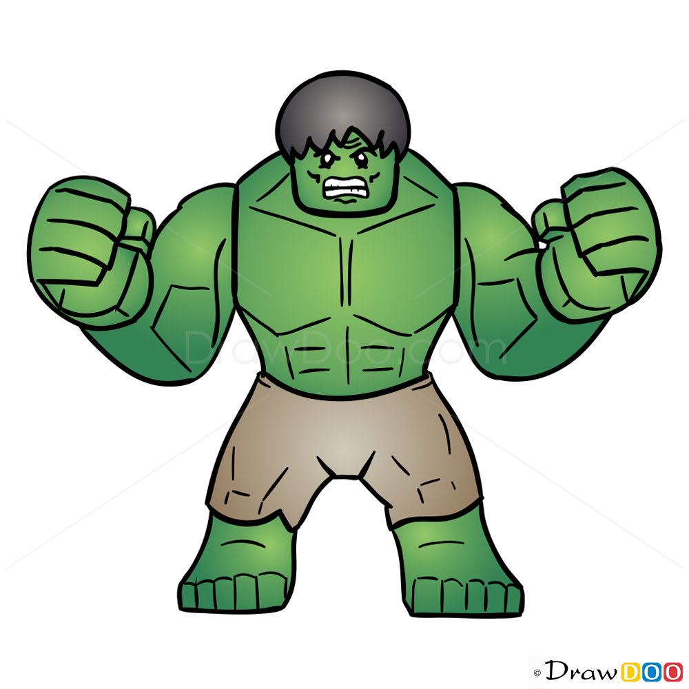 how to draw hulk lego super heroes