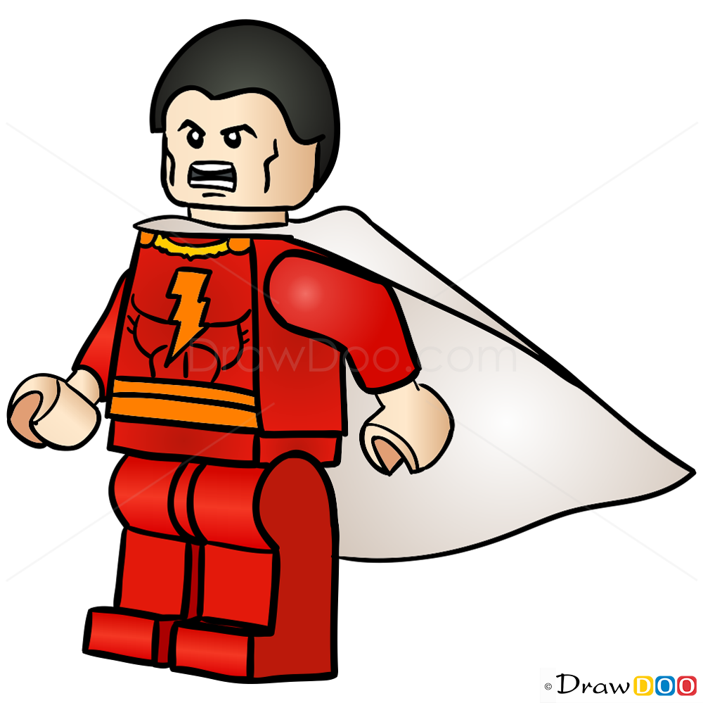 How To Draw Shazam Lego Super Heroes