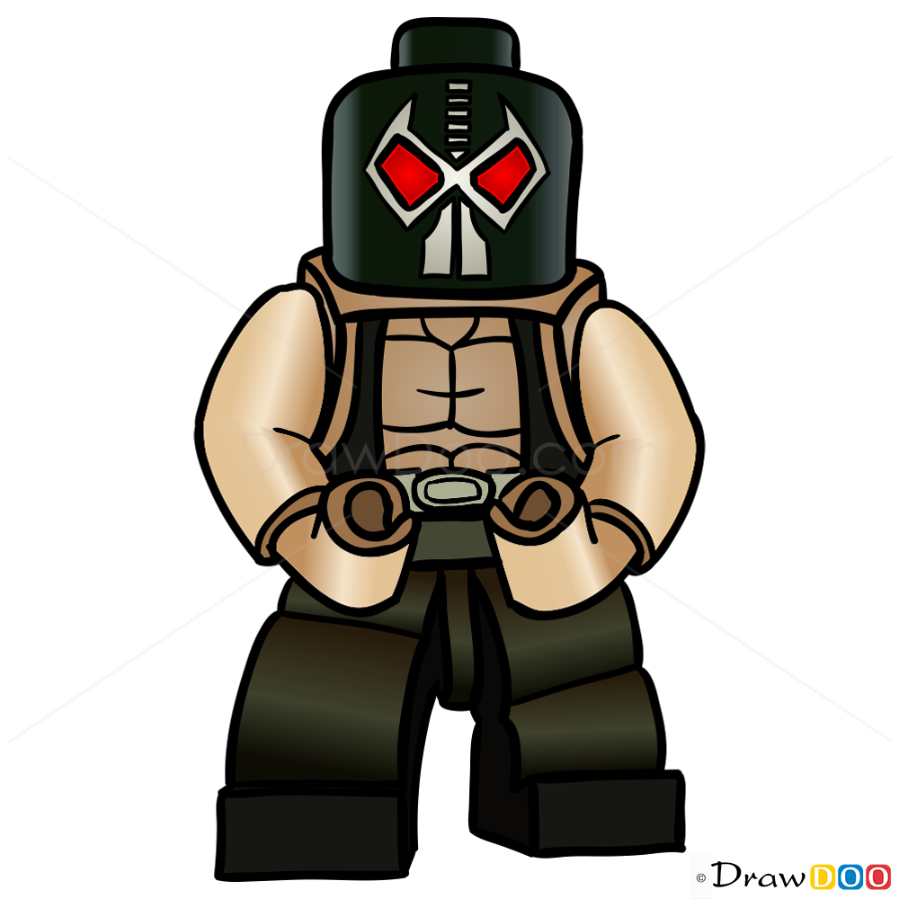 How To Draw Bane Lego Super Heroes