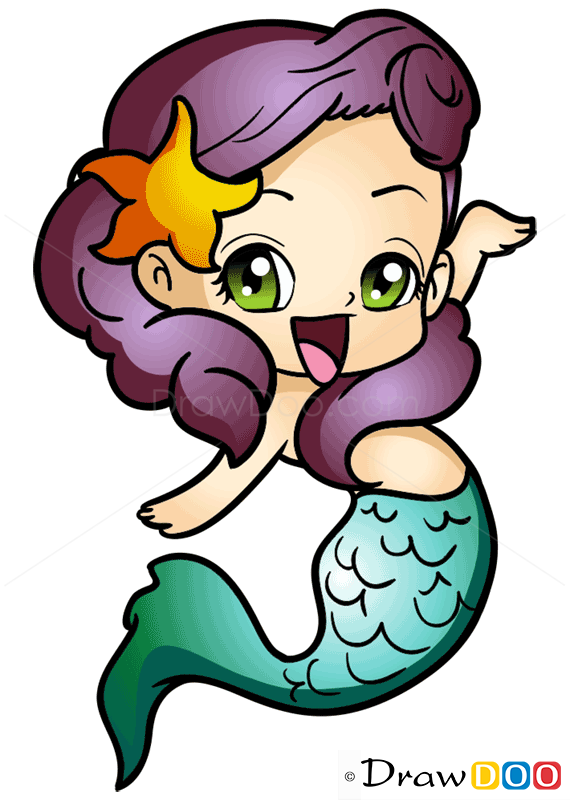 How To Draw Chibi Mermaid Mermaids