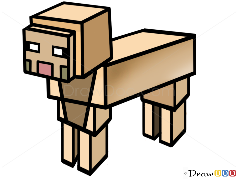 How To Draw Sheep Minecraft How To Draw Drawing Ideas