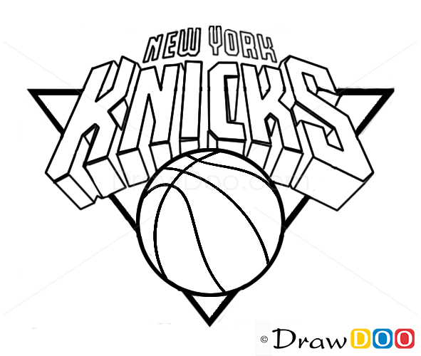How To Draw New York Knicks Basketball Logos How To