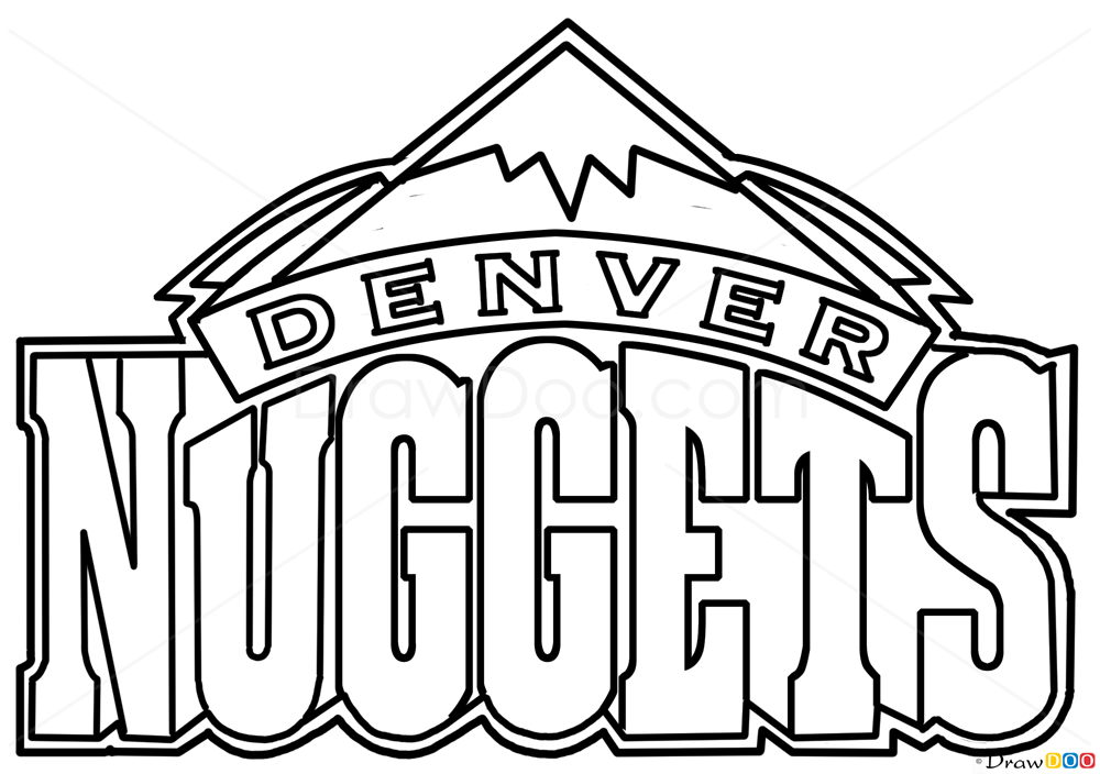 How To Draw Denver Nuggets Basketball Logos How To Draw